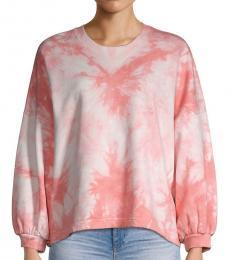 Light Pink Tie-Dyed Cotton Sweatshirt