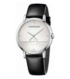 Calvin Klein Black Established Silver Dial Watch