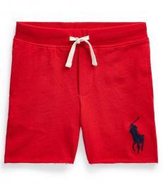 Ralph Lauren Little Boys Red Big Pony Shorts
