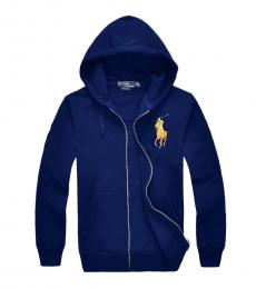 Ralph Lauren Navy Gold Big Pony Hoodie Jacket