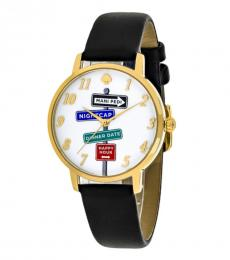 Kate Spade Black Metro Street Signs Watch