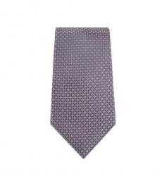 Michael Kors Purple Modern Geo Slim Silk Tie