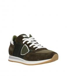 Philippe Model Green Olive Tropez Sneakers