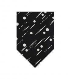 Black Dotted Print Tie