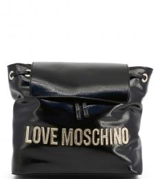 Love Moschino Black Bold Logo Medium Backpack