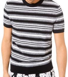Michael Kors Black Striped Boucle Sweater