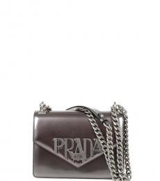 Metal Turnlock Small Shoulder Bag