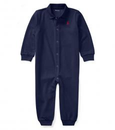 Ralph Lauren Baby Boys Navy Polo Coverall
