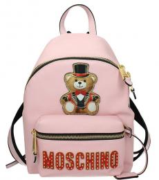 Pink Teddy Large Backpack