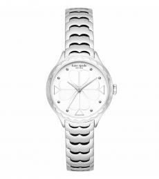 Kate Spade Silver Scallop Bezel Watch