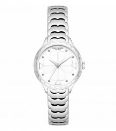 Kate Spade Silver Scallop Bezel Watch