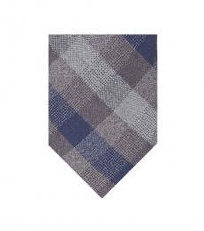 Michael Kors Grey Check Pattern Tie