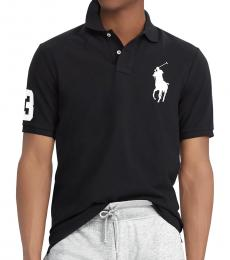 Black Custom Fit Big Pony Polo