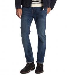 True Religion Dark Blue Rocco No Flap Skinny Jeans