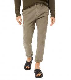 Smokey Olive Twill Cargo Pants