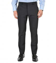 Dark Blue Flat Front Pants