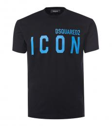 Dsquared2 Black Graphic Print T-Shirt