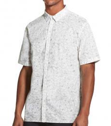 Standard White Floral Print Shirt
