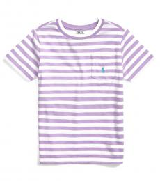 Ralph Lauren Little Boys English Lavender Striped T-Shirt
