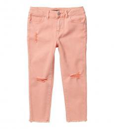 Girls Camelia Colored Distressed Skinny Capri Jeans