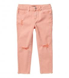 Calvin Klein Girls Camelia Colored Distressed Skinny Capri Jeans