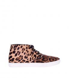 Leopard Print Hi-Top Sneakers