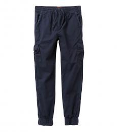 7 For All Mankind Boys Navy Cargo Pocket Joggers