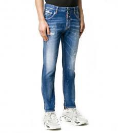 Dsquared2 Blue Slim-Fit Jeans