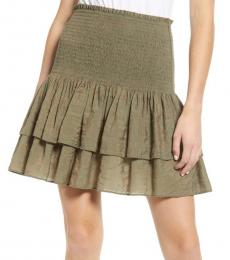 Rebecca Minkoff Olive Smocked Ruffle Mini Skirt