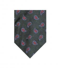 Dark Green Foulard Tie