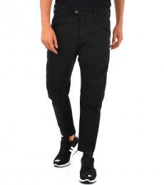 Black Low Rise Biker Jeans