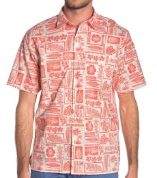 Orange-Lido Beach Short Sleeve Shirt