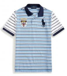 Ralph Lauren Boys Blue Lagoon Big Pony Crest Polo