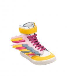 Girls Yellow Wing Sneakers