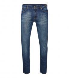 Versace Jeans Blue Straight Leg Jeans