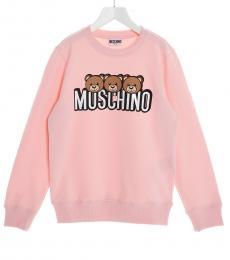 Moschino Little Girls Pink Teddy Sweatshirt