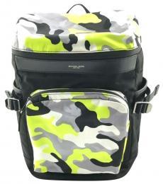 Michael Kors Black Neon Yellow Kent Cycling Large Backpack