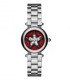 Marc Jacobs Silver Dotty Crystal Watch