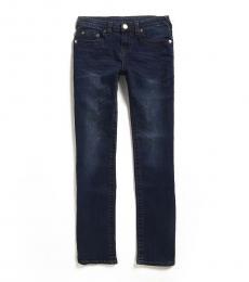 True Religion Boys Dark Blue Slim Straight Leg Jeans