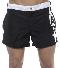 Karl Lagerfeld Black Side Logo Swimshorts