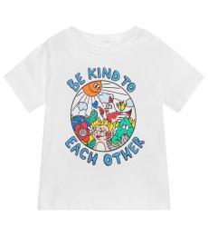 Stella McCartney Baby Girls White Graphic T-Shirt