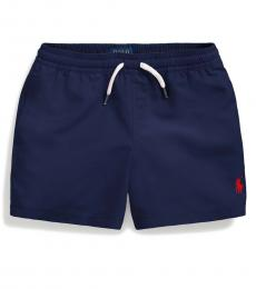 Ralph Lauren Little Boys Newport Navy Traveler Swim Trunk