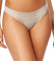 DKNY Natural Satin-Trim Thong Underwear