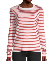 Rag And Bone White Striped Long Sleeve T-Shirt