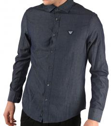 Armani Jeans Navy Blue Custom Fit Shirt