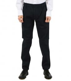 Armani Jeans Navy Blue Plain Hems Chino Pants
