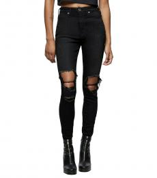 True Religion Night Shades Caia Ultra High Rise Super Skinny Jeans