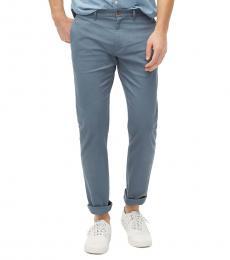 Blue Slim-Fit Flex Pants