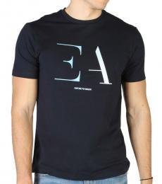 Emporio Armani Navy Blue Front Logo T-Shirt