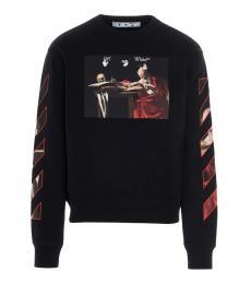 Black Caravaggio Printed Sweatshirt